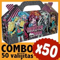 Monster High Cajita Valijita Bolsita Souvenir Combo X 50