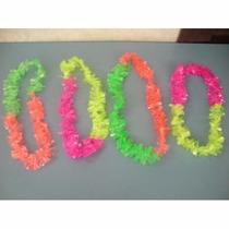Collares Hawaianos Bicolor Elastizados!! X 50 Unidades!!