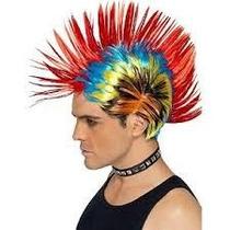Peluca Punk Multicolor Accesorio Disfraz Punk Decada 80