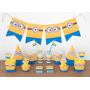 Cumpleaños Minions Kit Deco Impresión Y Recorte