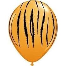 Globo Animal Print Tigre Naranja Tematica Selva Cumpleaños