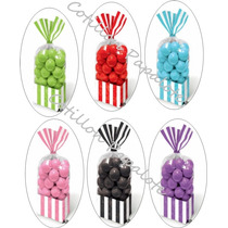 10 Bolsas Rayas Baby Shower Bautismo Año Candy Bar Dulces