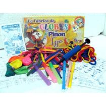 Fabrica De Globos C/inflador +60 Globos +6 Fibras +libro +ac
