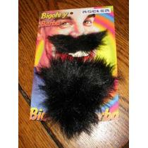 Barba Y Bigote Color Negro-postizo-con Adhesivo-