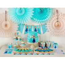 Cumpleaños Frozen Kit Deco Impresión Y Recorte
