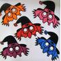 4 Mascaras De Goma Fluo Excelente Calidad Ideal Halloween