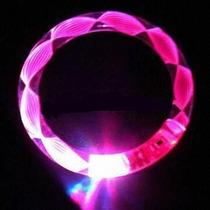 6 Pulseras Acrilicas De Luz A Led - Cotillon Luminoso