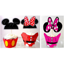 Mickey Y Minnie - Wrappers Y Toppers - Cumple Tematico