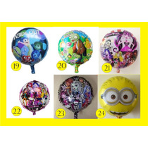 10 Globos Minions Intensamente Monster High Zombies Plantas