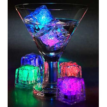 Cubito De Hielo Led X12u / Reusable Luminoso Multicolor Luz