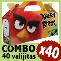 Angry Birds Cajita Valijita Bolsita Souvenir Combo X 40