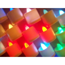 Velas Luminosas A Leds Multicolor Pack X 24 U