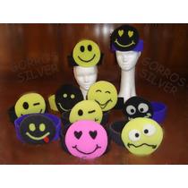 Emoticones - Combo De 10 Vinchas De Goma Espuma