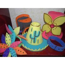 Pack De 30 Sombreros Y Vinchas De Goma Espuma