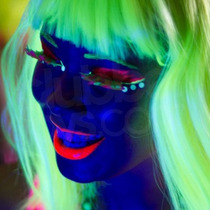 6 Labiales Fluor Maquillaje Que Brilla Con Luz Negra