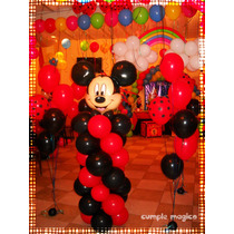 Columna Mickey En Globos Decoraciones Temáticas Cumpleaños