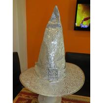 Sombrero De Bruja Dorado O Plateado Decorado