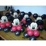Centros De Mesa Mickey Con Globos Metalizados, Envios