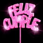 Cartel Feliz Cumple Luminoso Con Gibre