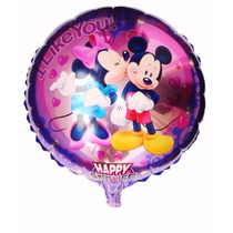 Glbo Metalizado Michey Minnie Deco Souvenir Disney