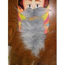 Barba Y Bigote Canoso-postizo-con Adhesivo-mercadopago