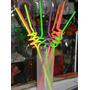 Sorbetes X 40 Fluo Plasticos -cotillon --formas Varias-