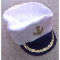Gorra Accesorio Disfraz Capitán O Marinero De Cotillon