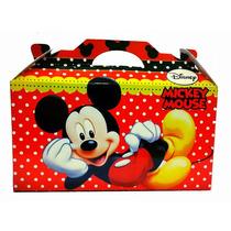 Souvenir Cumpleaños Bolsita Valija Cajita Mickey Y Minnie