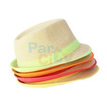 Sombrero Fungi Estilo Panameño Colores Fiesta Cotillón