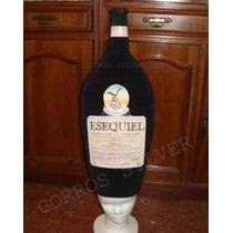 Botella Etiqueta Personalizada Gorro Cotillon Goma Espuma