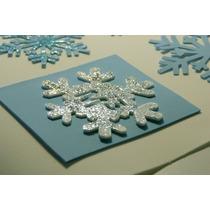 Copos De Nieve Frozen Troquelados Copo Eva,cartulina,papel