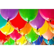 Globos Lisos 9 Pulgadas Color O Multicolor Fiesta Decoración