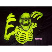 Halloween Mural Esqueleto Fluo Plastico