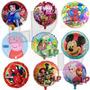 10 Globos Metalizados 45cm Frozen Zombies Minions Cumpleaños
