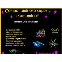 Super Combo Economico Pulseras Neon Vinchas 204 Articulos!!