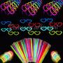 Combo Luminoso Neon 120 Articulos 100 Pulseras 20 Lentes.