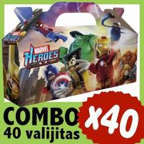 Superheroes Lego Marvel Cajita Valijita Bolsita Combo X 40