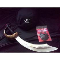 Halloween Disfraz Pirata Bandana,espada Y Parche