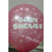10 Globos Baby Shower Nena Nene Beba Bebe Candy Bar Cumple