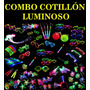 Combo Cotillon Luminoso X10 Vasos Y X2 Copas Led Local Once
