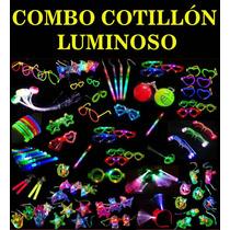 Combo Cotillon Luminoso X10 Vasos Y X2 Copas Led Local Once