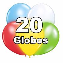 Globos Led, Pack 20 Unidades, Colores Surtidos