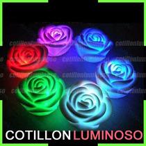 Vela Led Rosa Grande Luminosa Cotillón Luminoso X 12 Unid