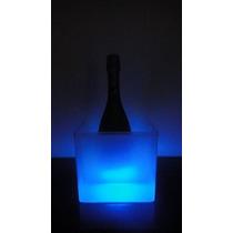 10 Fraperas Led Luminosa Cubica - Hielera. Decoración Evento