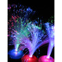 10 Centros De Mesa Luminosos. Fibra Optica. Fiestas C/ Pilas