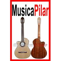 Guitarra Criolla Eq Fonseca Zurda 41kec Musica Pilar