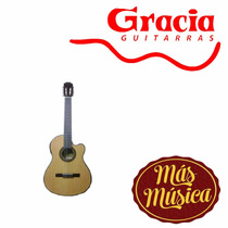 Gracia Wilde Jr Eq Guitarra Electro Acustica Natural C/funda