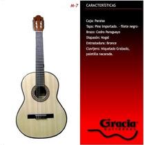 Guitarra Criolla Gracia M-7 Con Funda Acolchada De Regalo