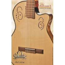 Guitarra Clásica Alpujarra 300kec C/eq Con Funda Acolchada