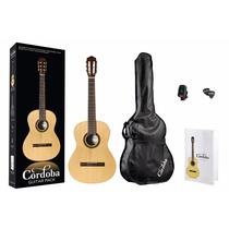 Guitarra Criolla Clasica + Afinador + Puas + Funda + Libro
